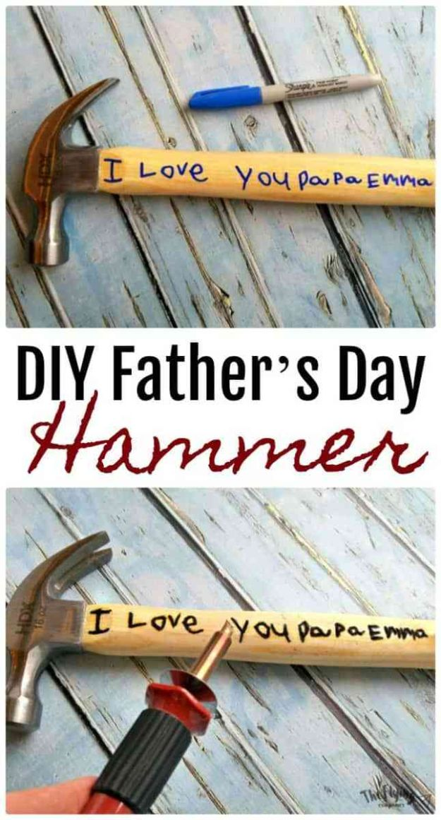 22 DIY Father's Day Hammer