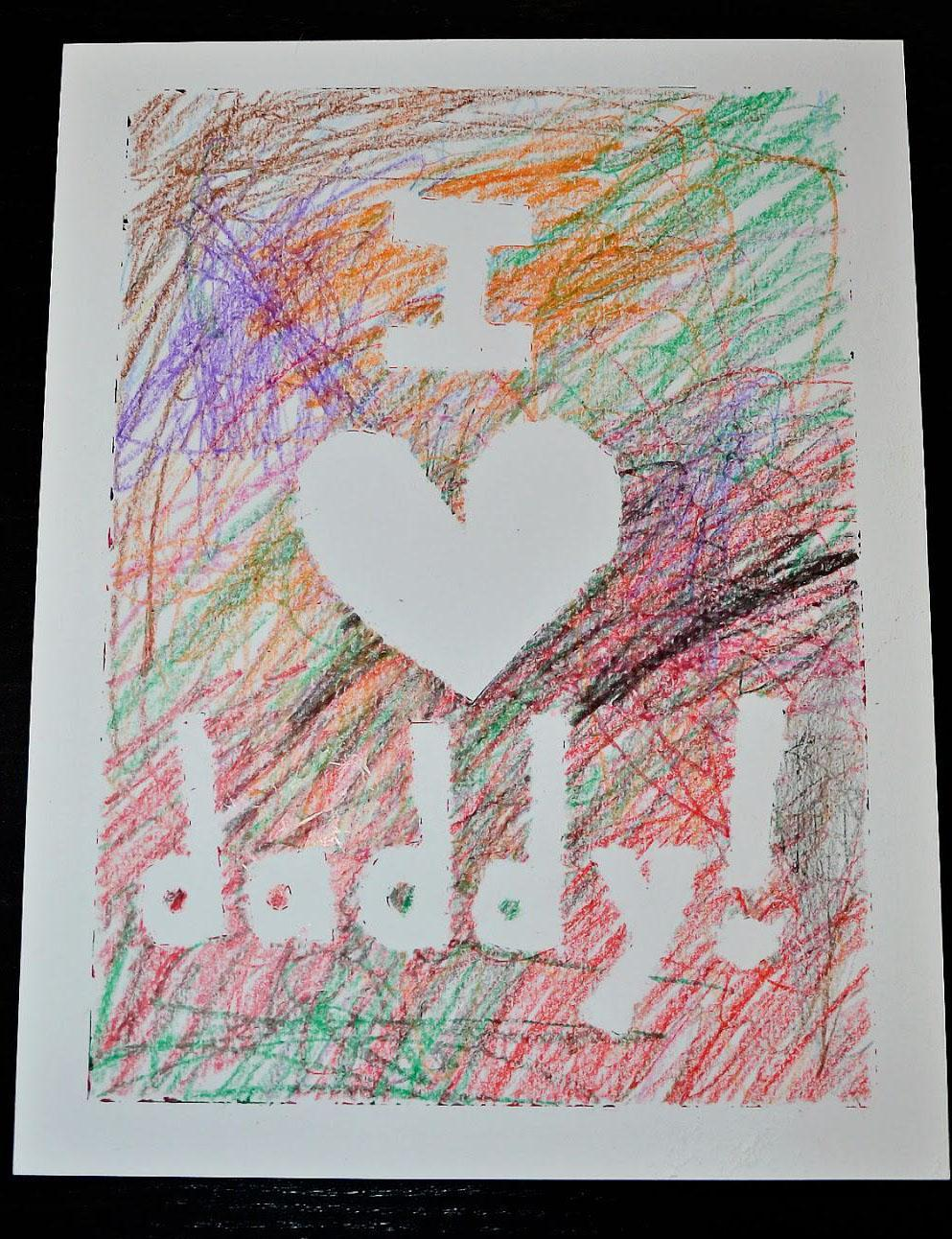 22 Taped Father's Day Card