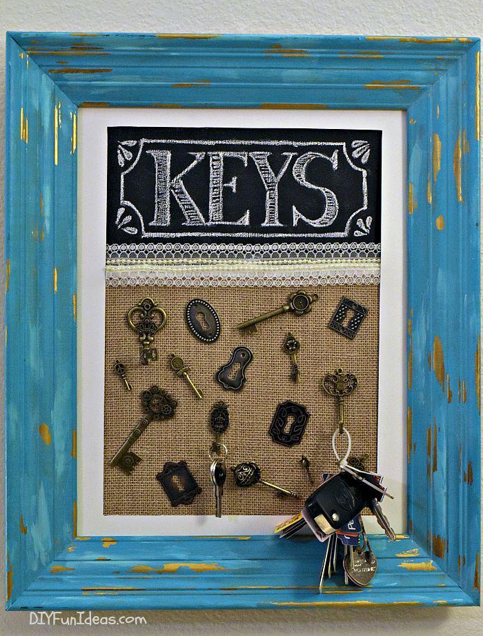 23 DIY Key Holder Frame