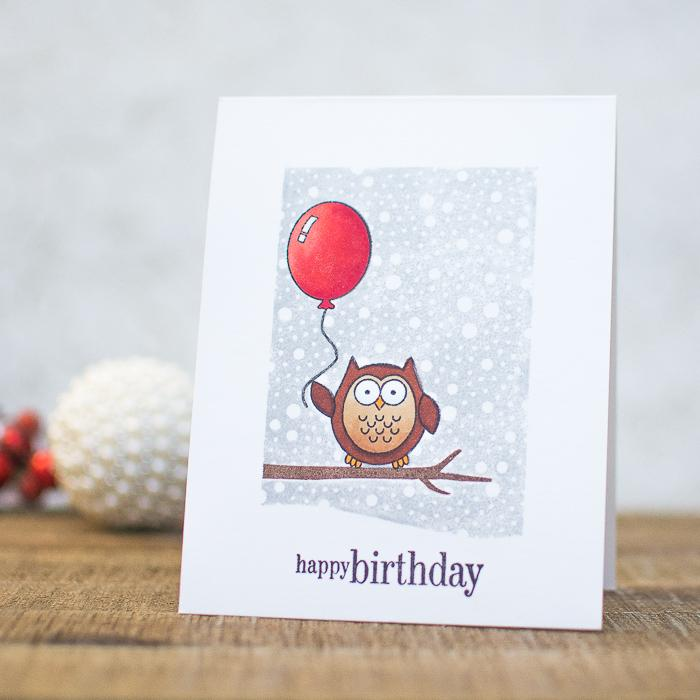 23 DIY winter-inspired owl birthday card