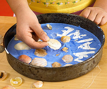 23 Seashell Stepping Stone