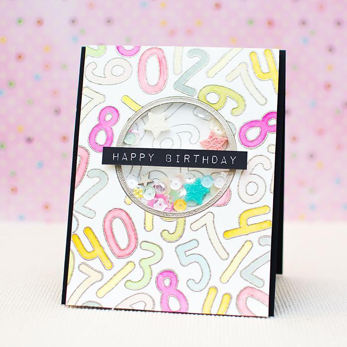 24 DIY birthday shaker card