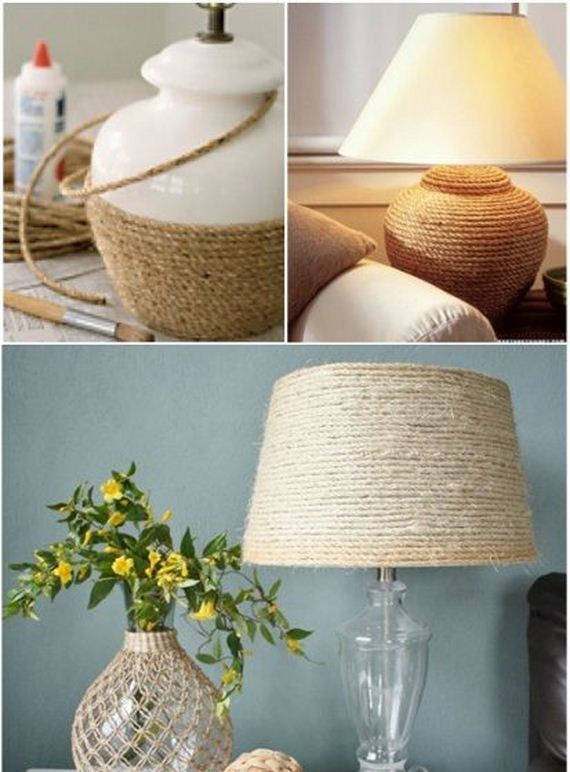 25 DIY rope lamp