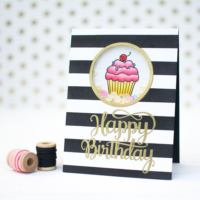 25 DIY striped cupcake birthday card