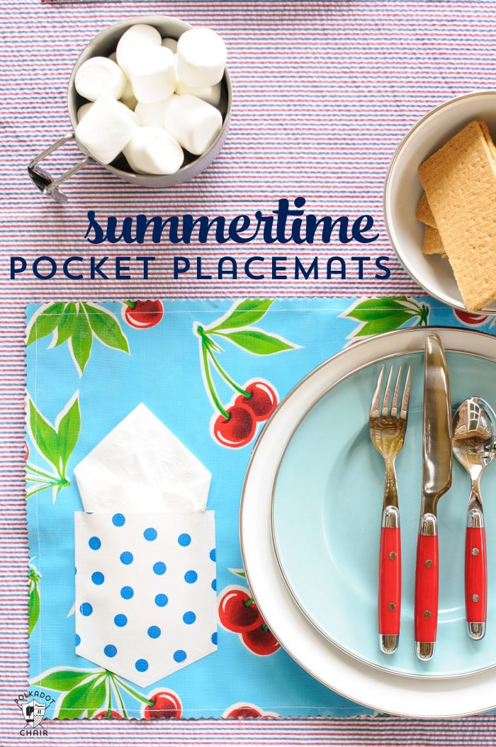 25 Pocket Oilcloth Placemats