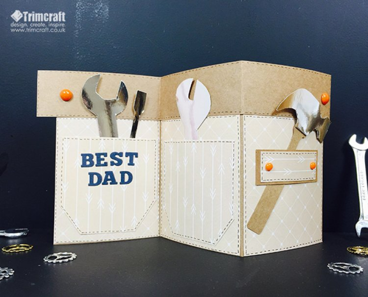 26 DIY Father's Day Tool Belt Folding Card