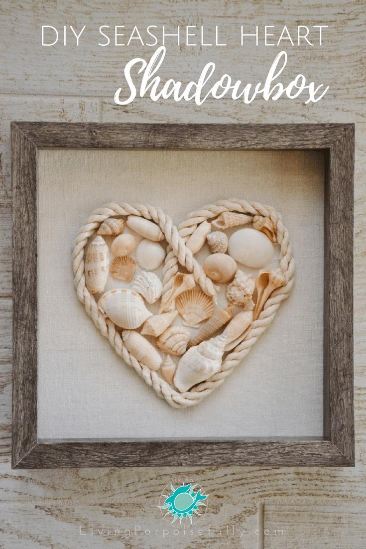 26 DIY SEASHELL HEART SHADOWBOX