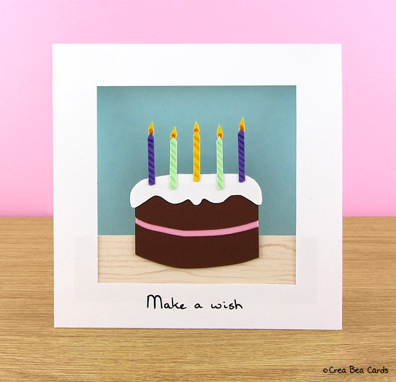 26 DIY chocolate birthday cake card