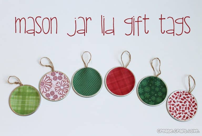 26 Mason Jar Lid Gift Tags
