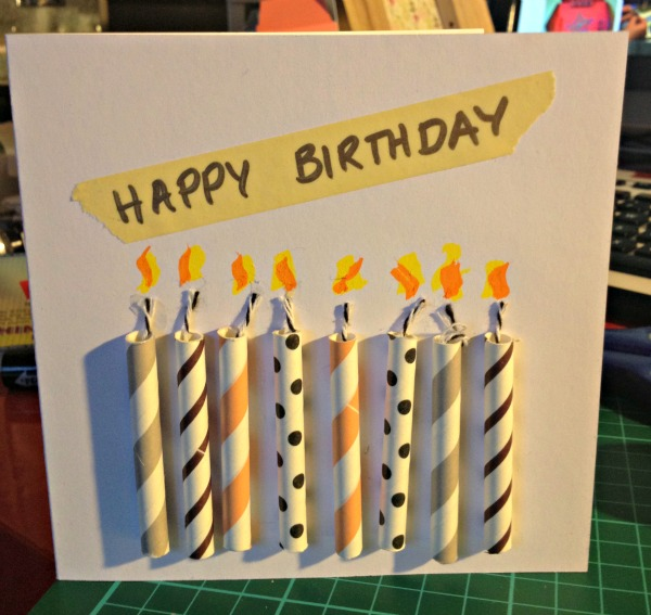 27 Eight candle birthday card