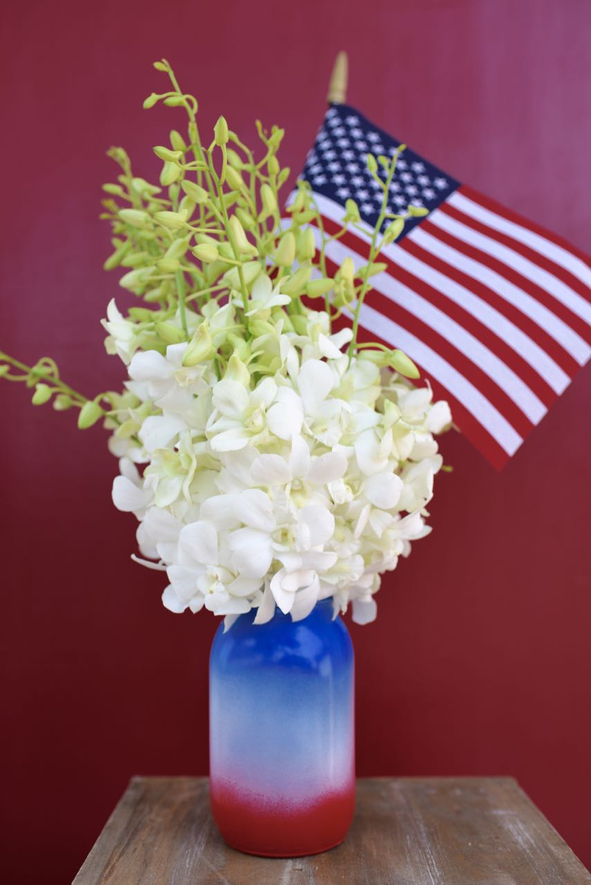 27 FOURTH OF JULY CRAFT MASON JAR VASE
