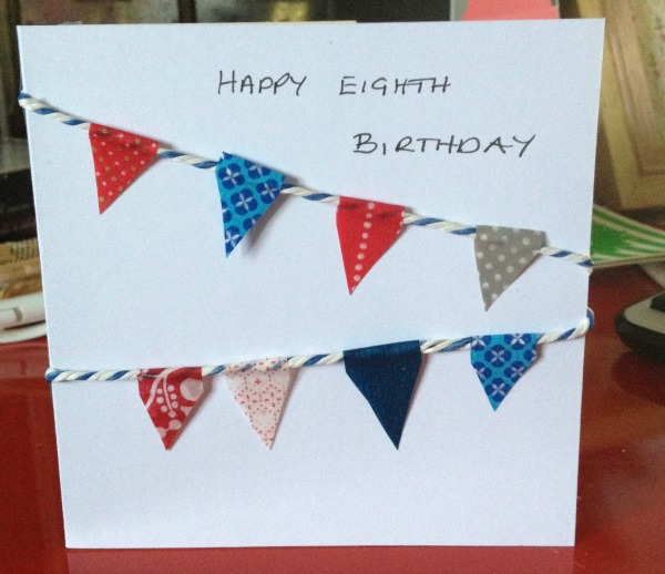 28 Bunting Birthday Card