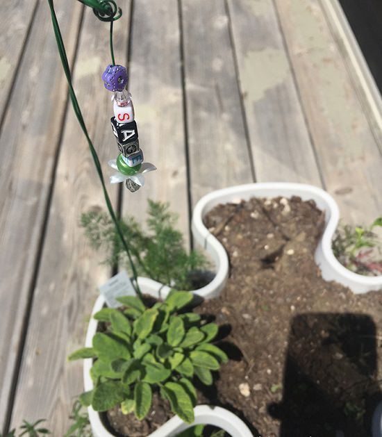 28 DIY Beaded Garden Plant Marker
