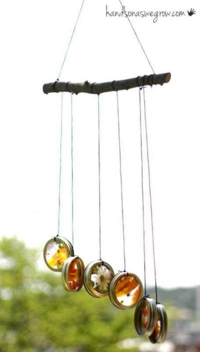 28 Homemade Nature Suncatcher Wind Chimes