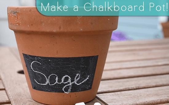 29 DIY Chalkboard Pot