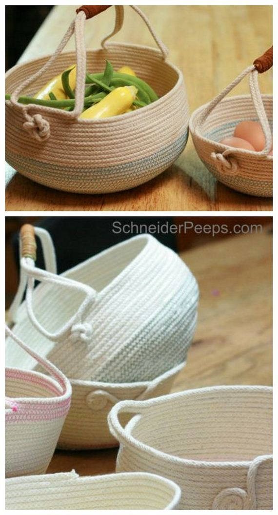 29 DIY rope baskets