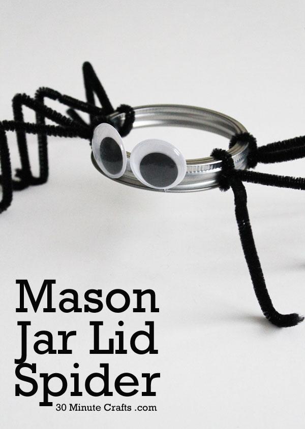 29 Mason Jar Lid Spider