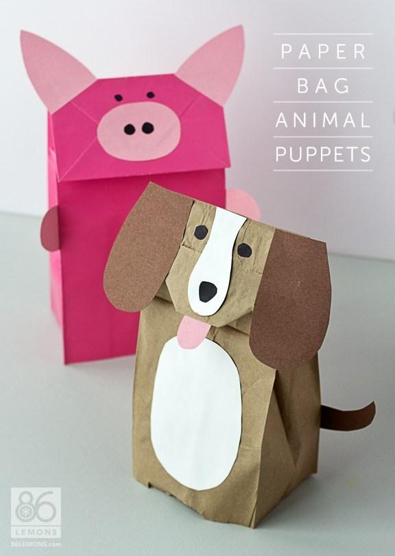 29 Paper Bag Dog Puppet
