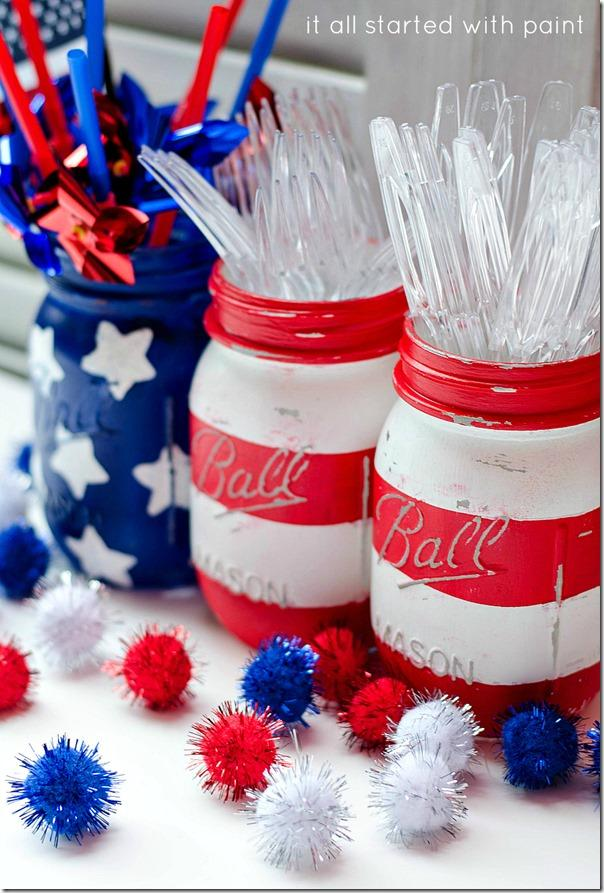 3 4th of July Silverware Holder