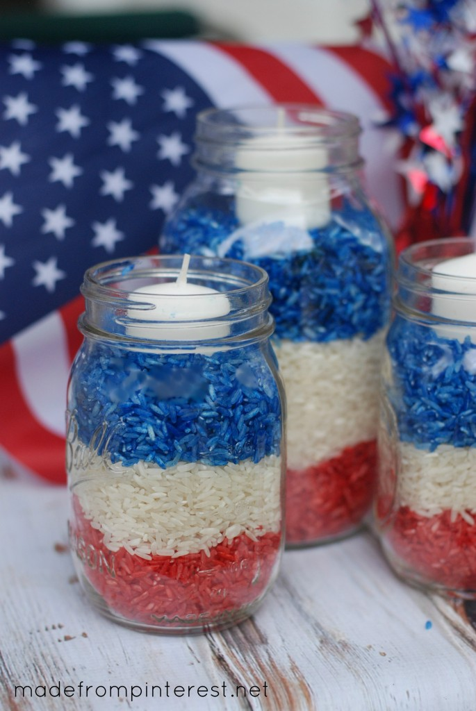 30 4TH OF JULY MASON JAR CANDLES