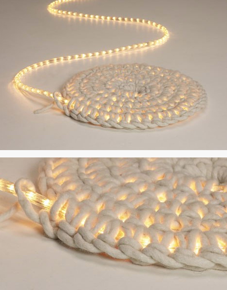 30 Crochet rope light rug