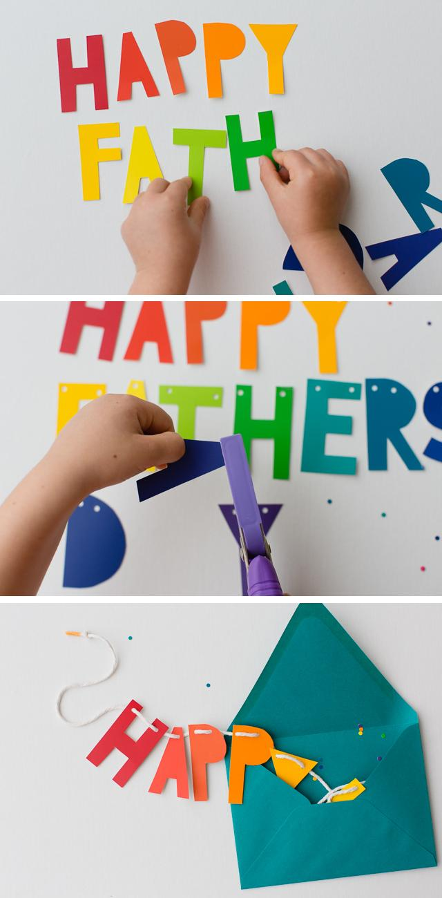 30 DIY Father's Day Banner and Card