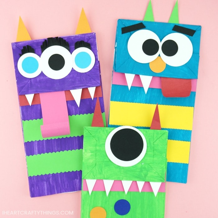 30 PAPER BAG MONSTER PUPPETS