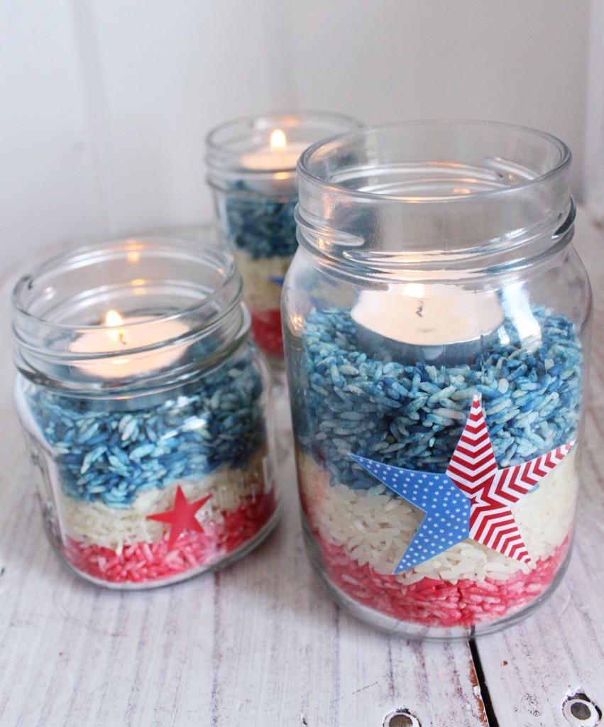 31 DIY 4th of July Mason Jar Craft