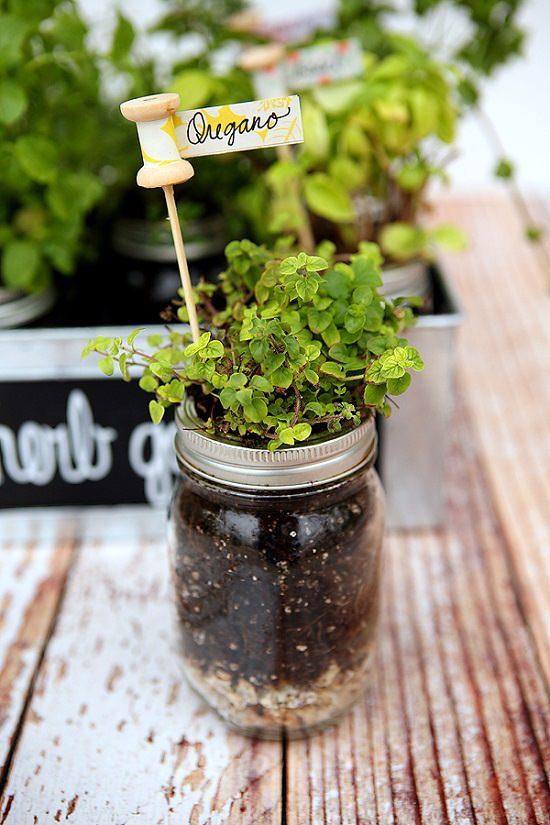 31 DIY Plant Marker+Herb Garden