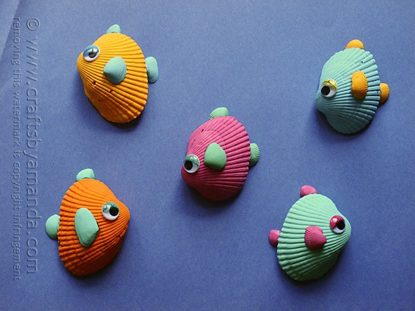 31 Tropical Seashell Fish Craft