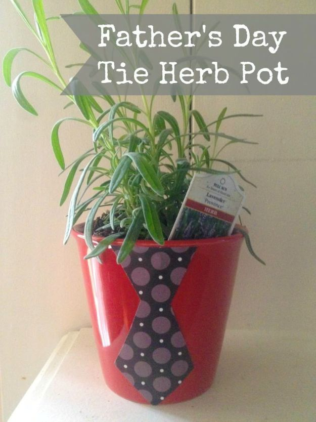 32 Father's Day Tie Herb Pot