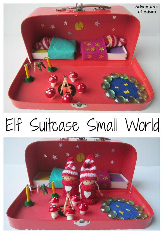 33 Elf Suitcase Small World