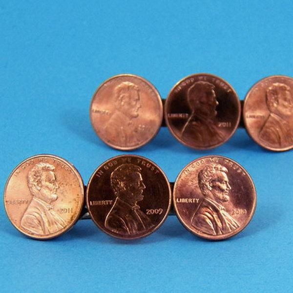 34 Coin Barrettes
