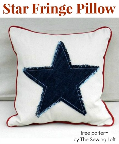 34 Star Fringe Pillow