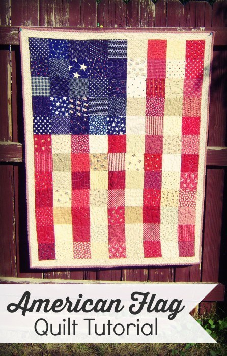 35 American Flag Quilt Tutorial