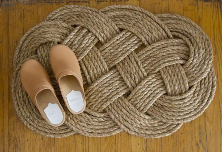35 DIY Woven Rope Doormat