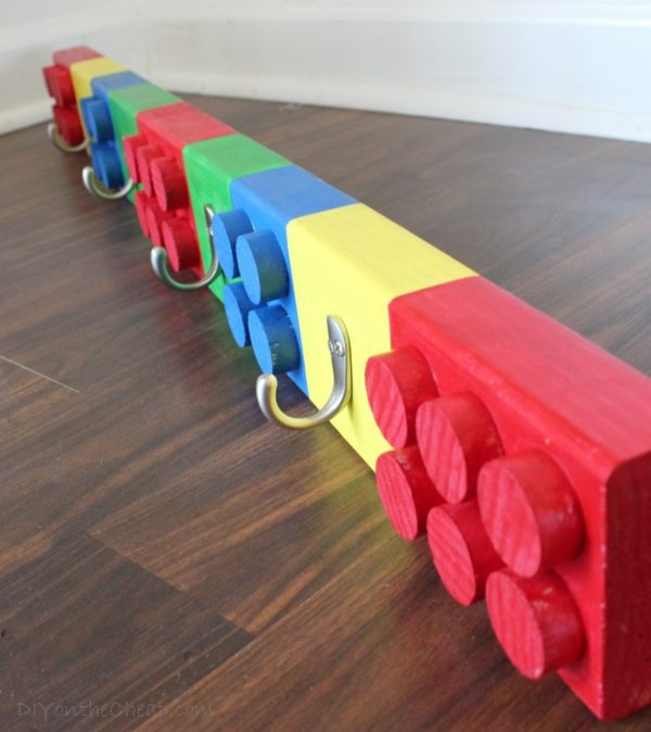 35 Lego Coat Rack