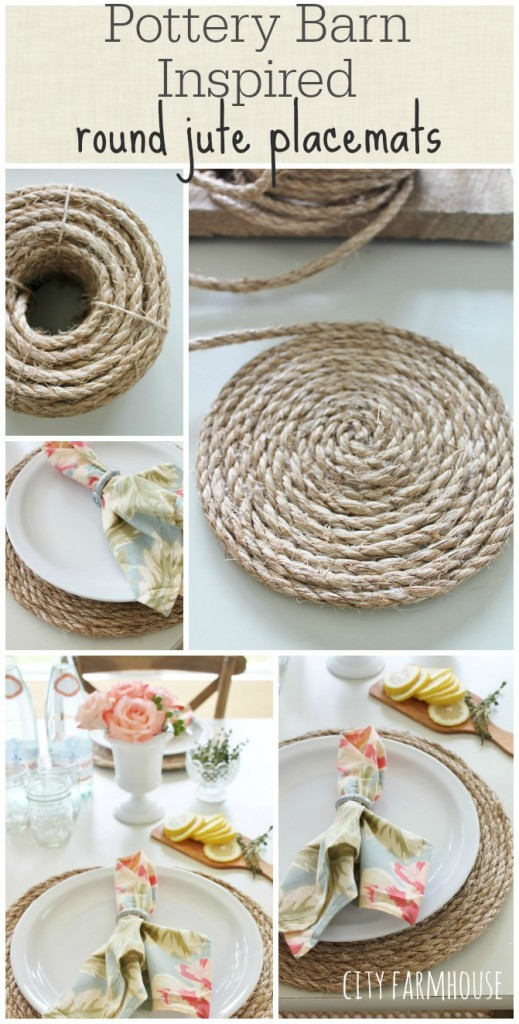 38 Pottery Barn Inspired Round Jute Placemats