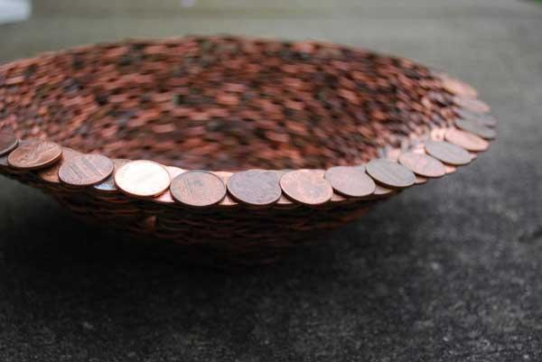 39 DIY Bowl Made Pennies