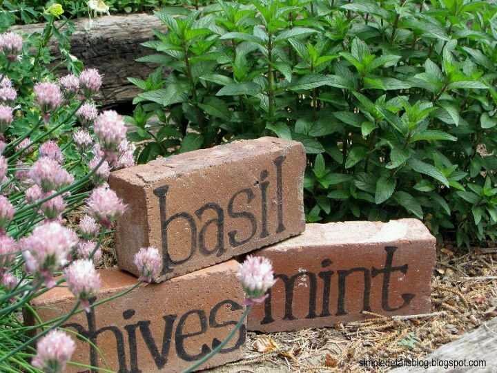 4 Brick Style Garden Markers
