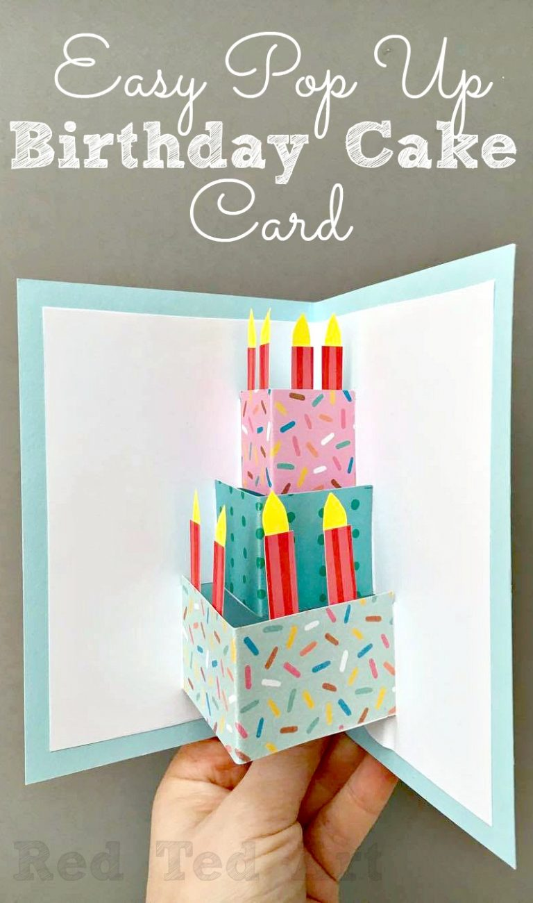 40 Easy Pop Up Birthday Card DIY
