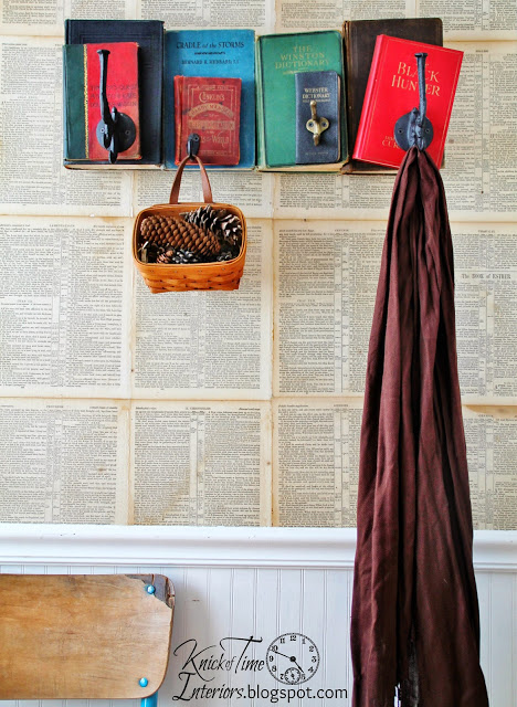 40 Repurposed Book Coat Rack