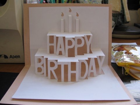 41 DIY 3D Birthday Cake Card