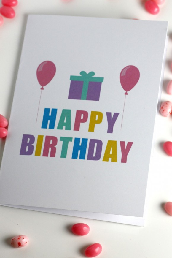 43 DIY Printable Birthday Card Craft Ideas