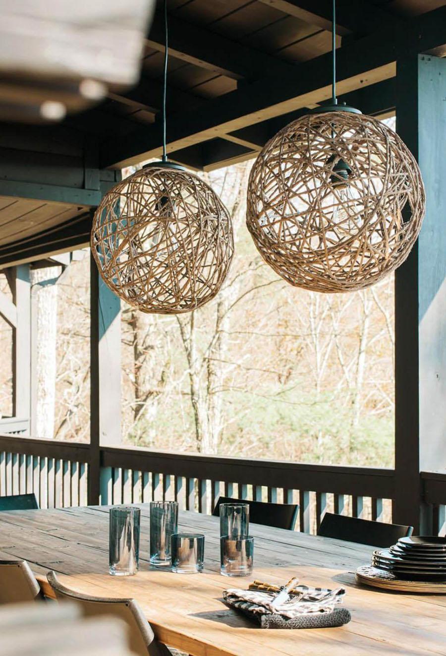 46 Rope Sphere Pendant Light