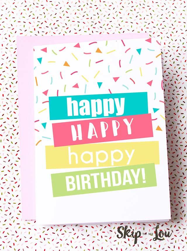 47 Free Printable Birthday Card