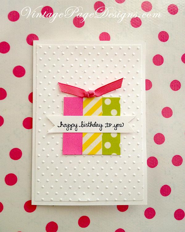48 Washi Tape Birthday Card