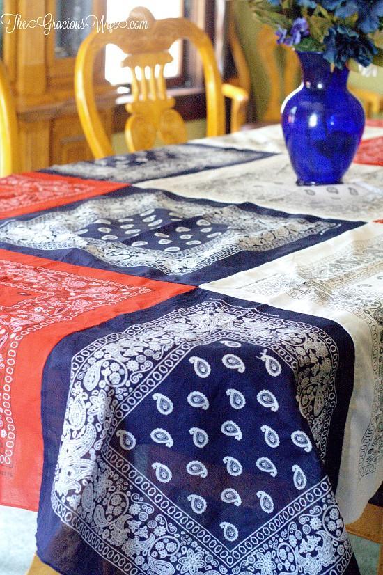 5 DIY Bandanna Tablecloth