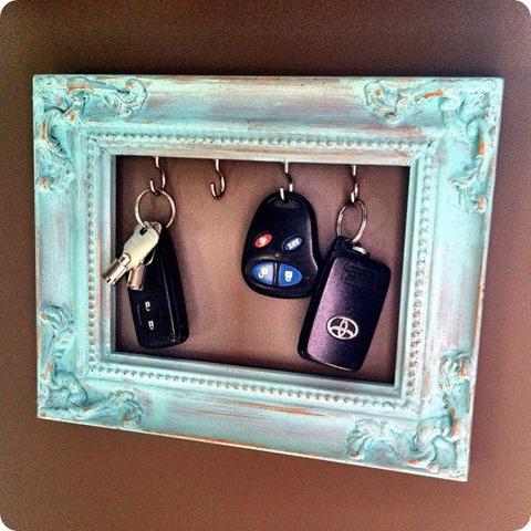 5  DIY Frame Key Holder