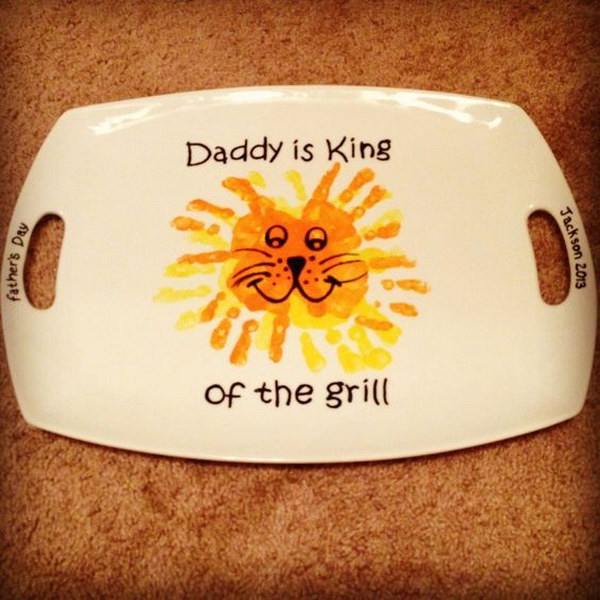 5 Daddy Is King Of The Grill Plate